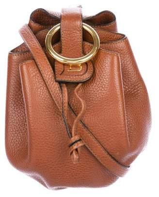 Delvaux Grained Leather Shoulder Bag