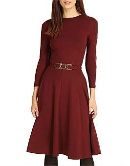 Phase Eight Belted Ponte Swing Dress