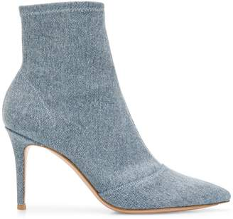 Gianvito Rossi stonewashed denim ankle boots