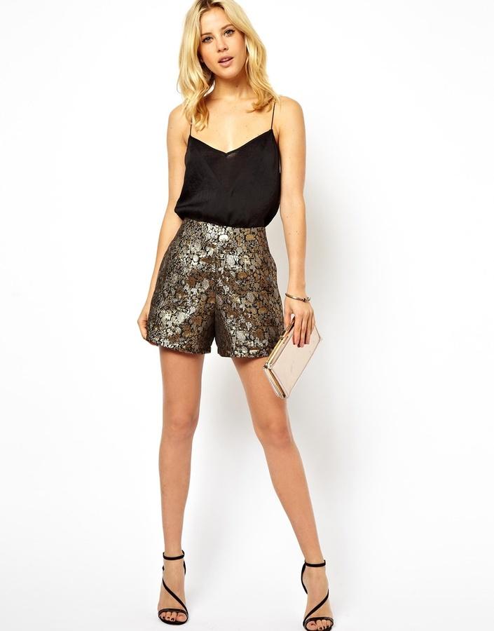 Asos Shorts in Gold Jacquard