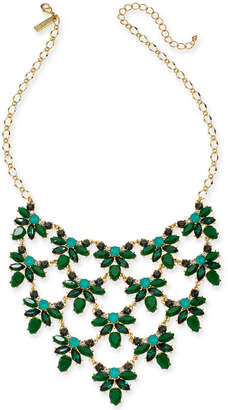 """INC International Concepts Inc Gold-Tone Square Stone Statement Necklace, 16"""" + 3"""" extender"""