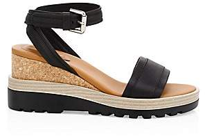 See by Chloe Women's Robin Leather Ankle Strap Platform Wedge Sandals