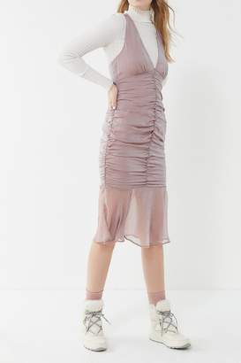 Urban Outfitters Mermaid Ruched Midi Dress