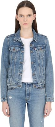 Washed Cotton Denim Jacket $132 thestylecure.com
