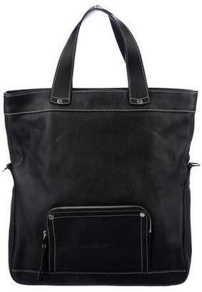 Longchamp Grained Leather Satchel