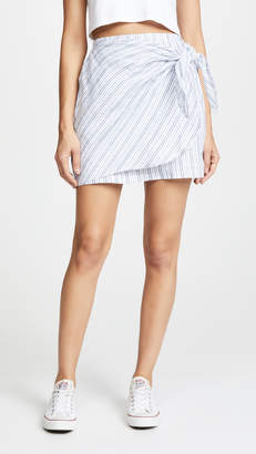 Three Dots Faux Wrap Skirt