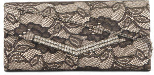 Lace Overlay Evening Bag