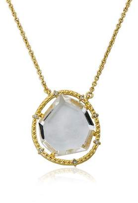 "Riccova ""Sliced Glass 14k Gold-Plated Sliced Glass Pendant Necklace"