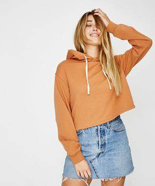 Subtitled Polly Pullover Hoodie Apricot