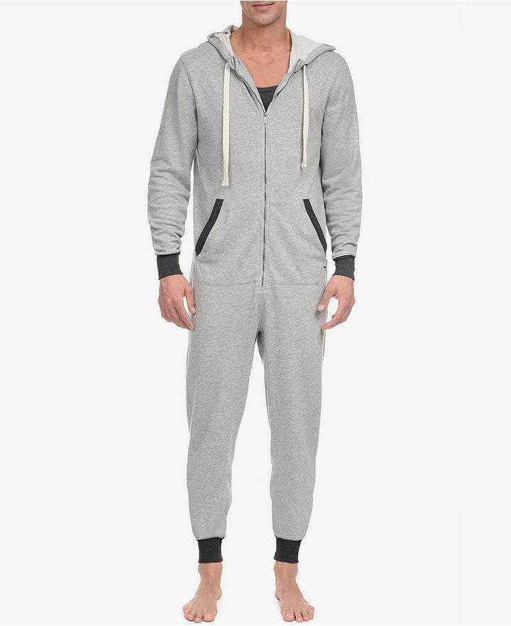 2(x)ist 2(x)ist Men's Heathered Terry Pajama Jumpsuit