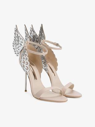 Sophia Webster Nude Silver Evangeline 105 sandals