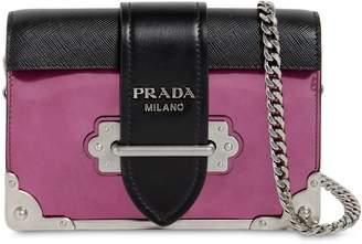 Prada Small Cahier Leather Shoulder Bag