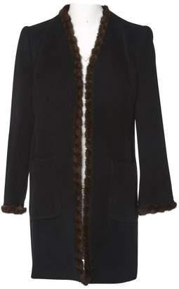 Carven Black Wool Coats