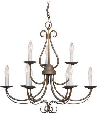 Volume Lighting Minster 9-Light Candle-Style Hanging Chandelier