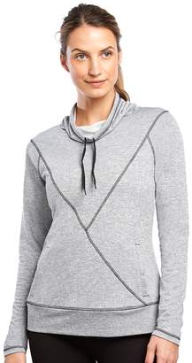 Jockey Women's Sport Fusion Terry Funnel Neck Top