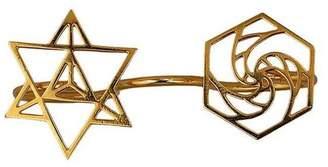 Eina Ahluwalia Sacred Geometry Three Finger Ring ll
