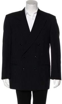 Valentino Double-Breasted Virgin Wool Blazer