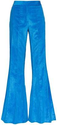 Rosie Assoulin corduroy pleated flare trousers
