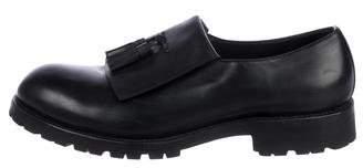 Bottega Veneta Leather Round-Toe Loafers