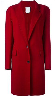 DKNY single breasted coat $723.20 thestylecure.com