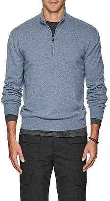 Barneys New York Men's Cashmere Quarter-Zip Sweater - Md. Blue