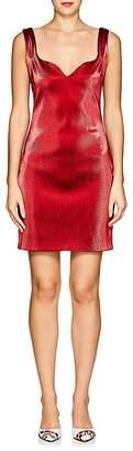 Area Women's Flo Stretch-Lamé Sweetheart-Neck Dress