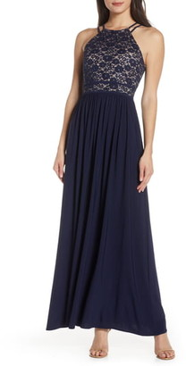 Morgan & Co. Lace Bodice Evening Gown