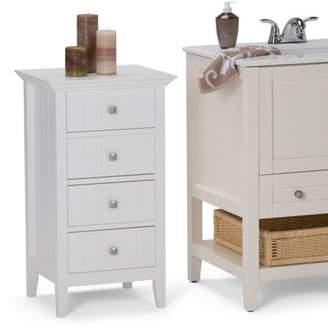 Simpli Home Acadian 4 Drawer Floor Cabinet
