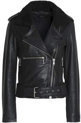 Muu Baa Muubaa Faux Shearling-Trimmed Leather Biker Jacket
