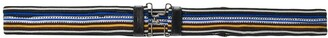 Prada striped clasp buckle belt