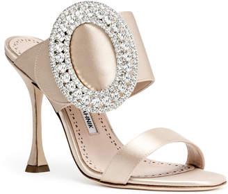 Manolo Blahnik Fibiona beige satin sandals