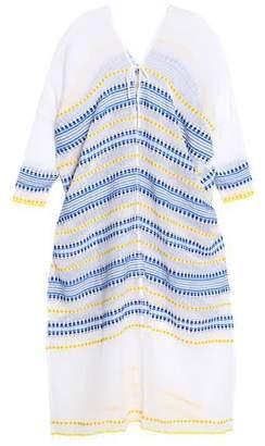 Lemlem Embroidered Striped Cotton-Blend Gauze Kaftan