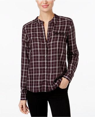 Calvin Klein Jeans Zippered-Pocket Plaid Shirt $79.50 thestylecure.com