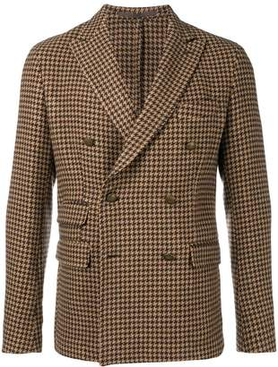 Eleventy check retro blazer
