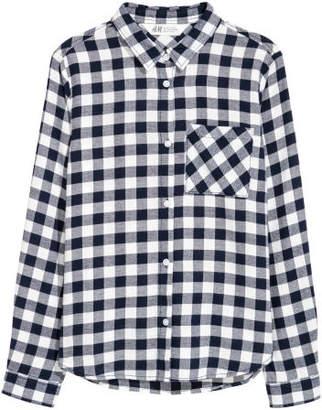 H&M Cotton Flannel Shirt - Blue