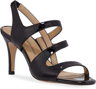 Neiman Marcus Brit High-Heel Patent Dress Sandals