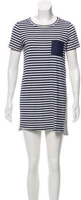 Clu Too Striped Short Sleeve Mini Dress