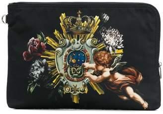 Dolce & Gabbana printed clutch bag