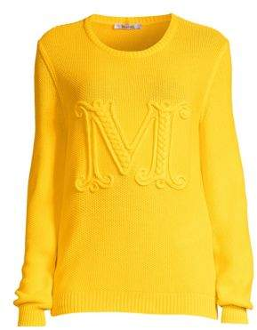 Max Mara Avila Embroidered Logo Sweater