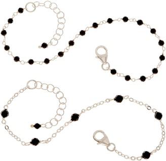 Italian Silver Set of 2 Gemstone Bracelets