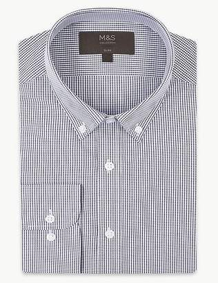 Marks and Spencer Cotton Blend Slim Fit Shirt