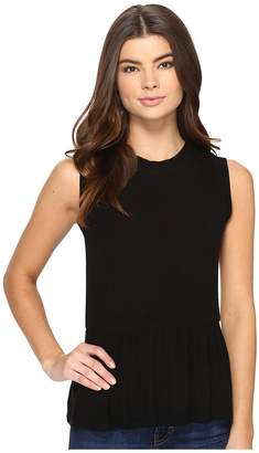 Three Dots Sleeveless Peplum Women's Clothing