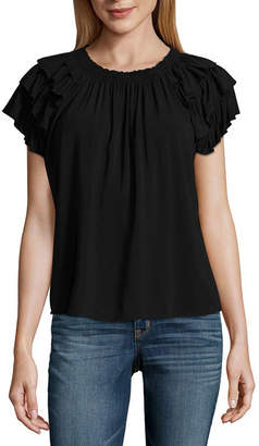 A.N.A Tiered Ruffle Sleeve Blouse