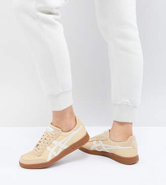 Asics Viccka Court Sneakers In Cream With Gum Sole