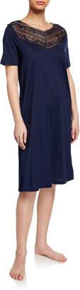 Hanro Malene Lace-Yoke Nightgown