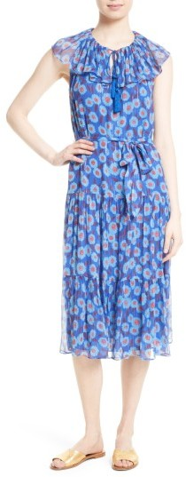 Women's Kate Spade New York Tangier Floral Chiffon Tiered Dress