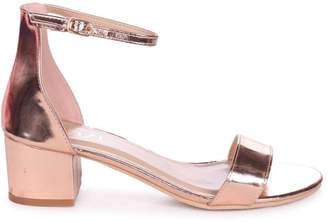 9153865471a Barely There Linzi NADINE - Rose Gold Nappa Heeled Sandal With Closed Open  Back