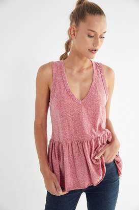 Truly Madly Deeply V-Neck Peplum Tank Top
