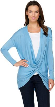 Halston H By H by Long Sleeve Crossover Cardigan