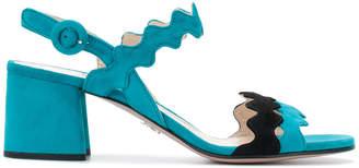 Prada scalloped open toe sandals